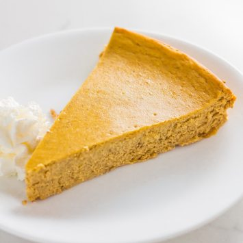 Crustless Pumpkin Spice Keto Cheesecake