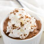 Keto chocolate mousse with spoon