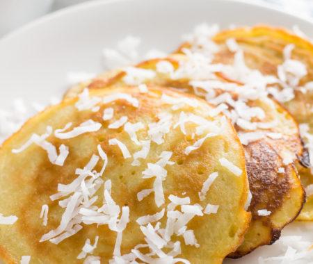 Coconut Milk Pancakes (Dairy Free, Keto, Low Carb, Gluten Free)