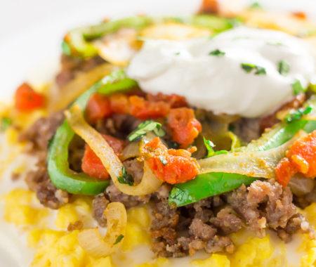 Healthy Mexican-Style Breakfast Scramble