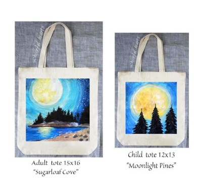 Paint your own beautiful tote bag