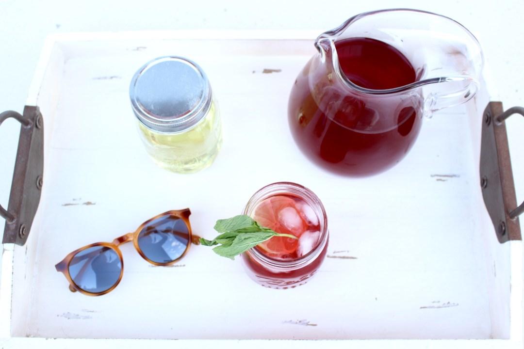 raspberry tea mojito
