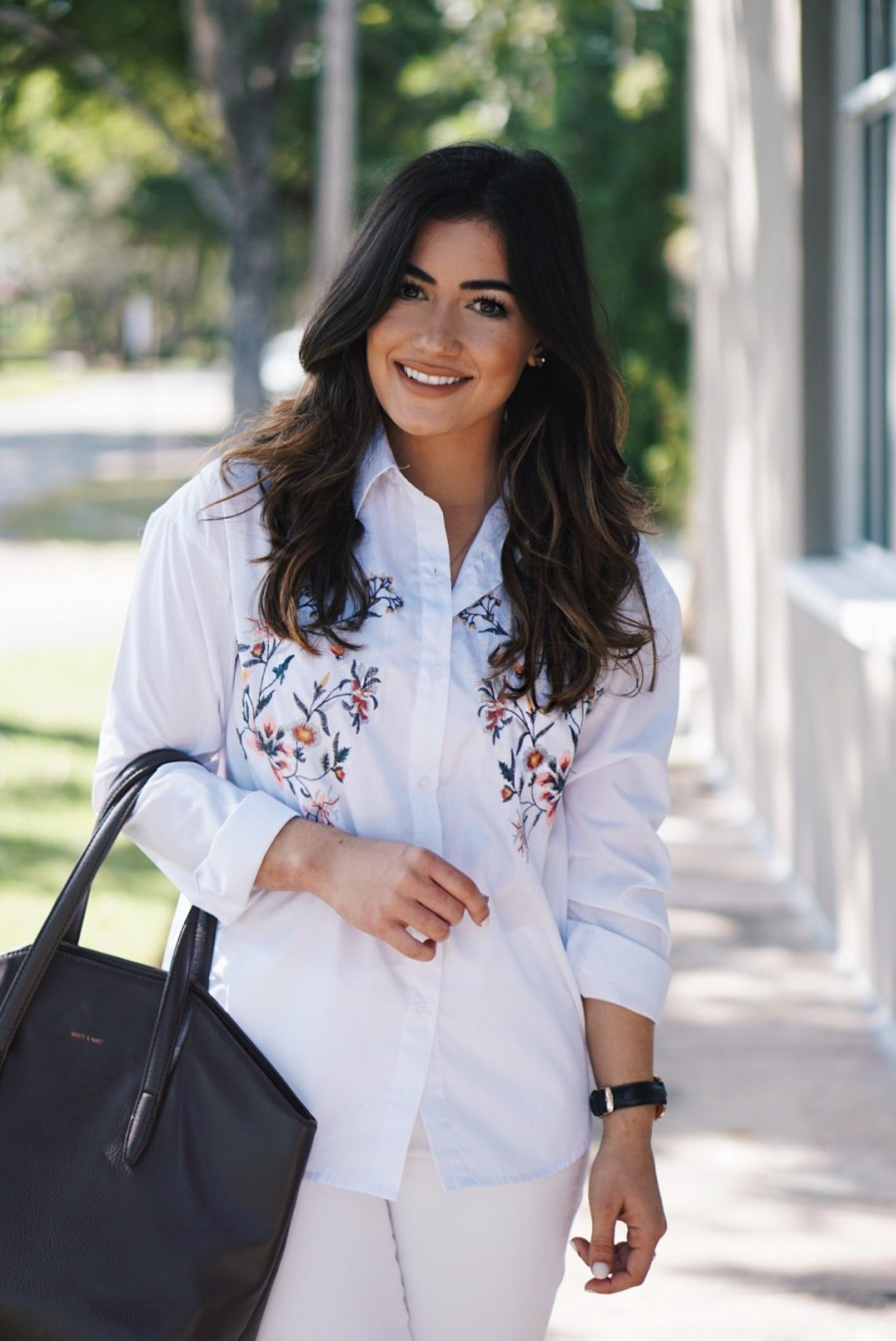 How to Style an Embroidered Button Down Shirt