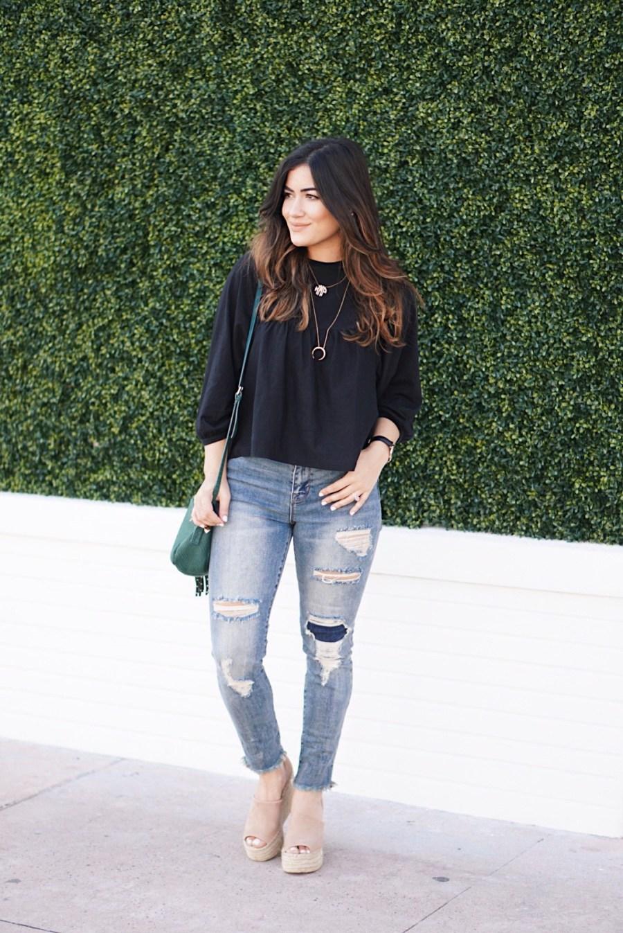 Here's Why I'm loving the Raw Hem Jean Trend