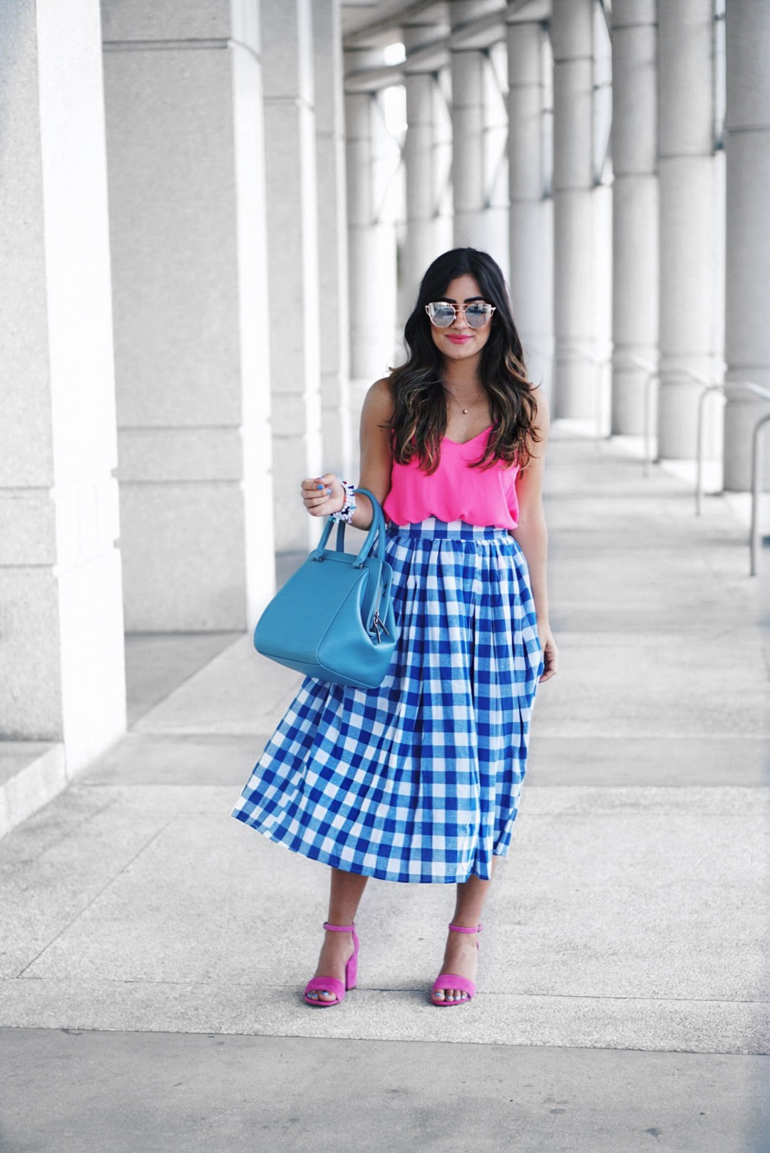 Summer Midi Skirt Outfit by Sugar Love Chic blogger Krista Perez
