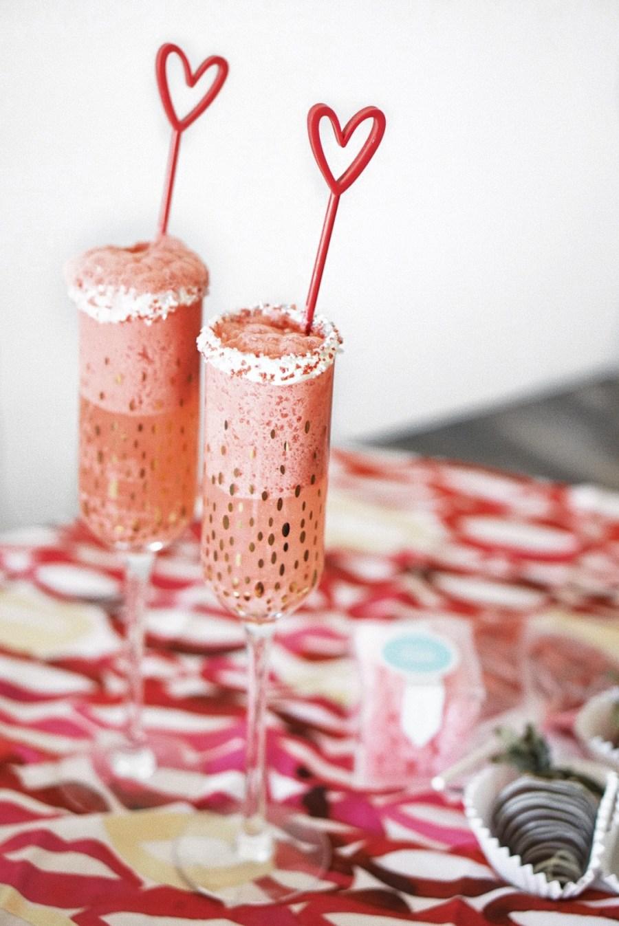 Red Velvet Champagne Cocktail