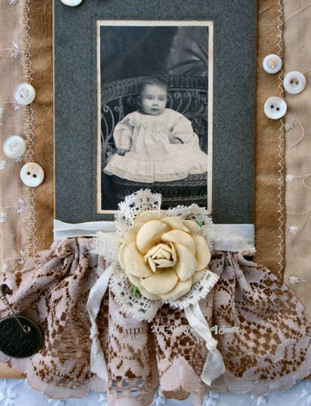 altered baby cabinet card