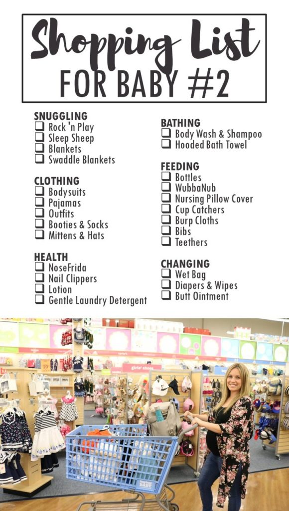 Shopping List for Baby Number TWO - Printable Checklist for Baby Essentials