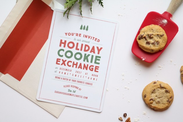 Holiday Party Invitations with Basic Invite - Holiday Cookie Exchange - Shimmer and Sangria