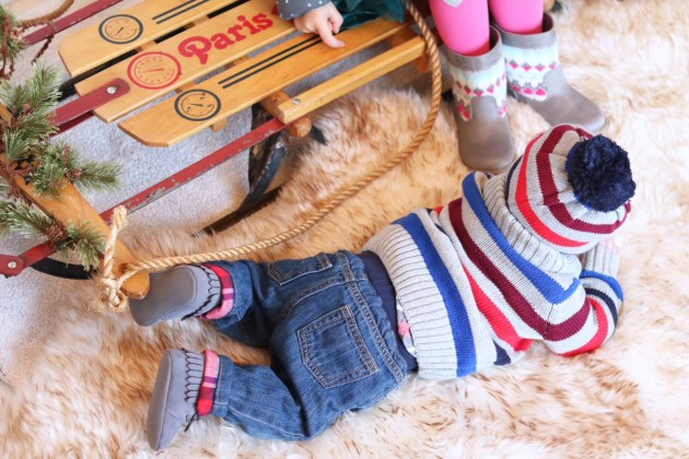 Holiday Traditions - THE BEST TIME TO BE A KID with Gymboree baby boy winter outfit