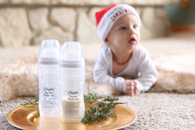 Celebrating Baby's First Christmas As A Nursing Mom + An Announcement - #ForBetterBeginnings #PlaytexMom Closer to natural breastfeeding