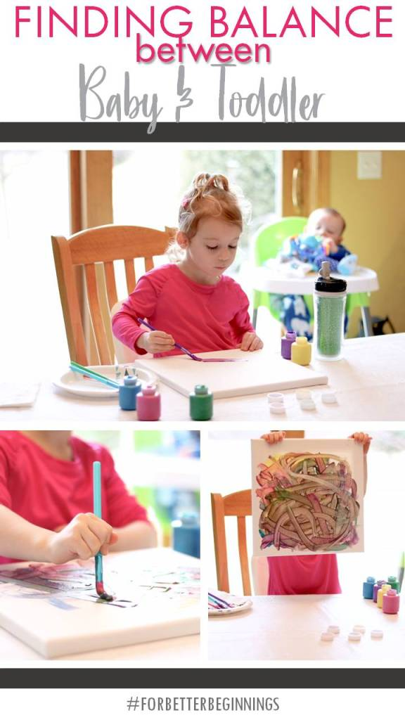 Finding Balance Between Baby and Toddler - Playtex Baby Sipsters Sport Spout Cup - Toddler Painting Activity with Canvas #PlaytexMom #ForBetterBeginnings AD
