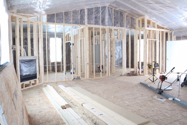 Framing in our new home.