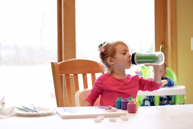 Keep a water bottle filled for your toddler. Wisconsin Mom Blogger