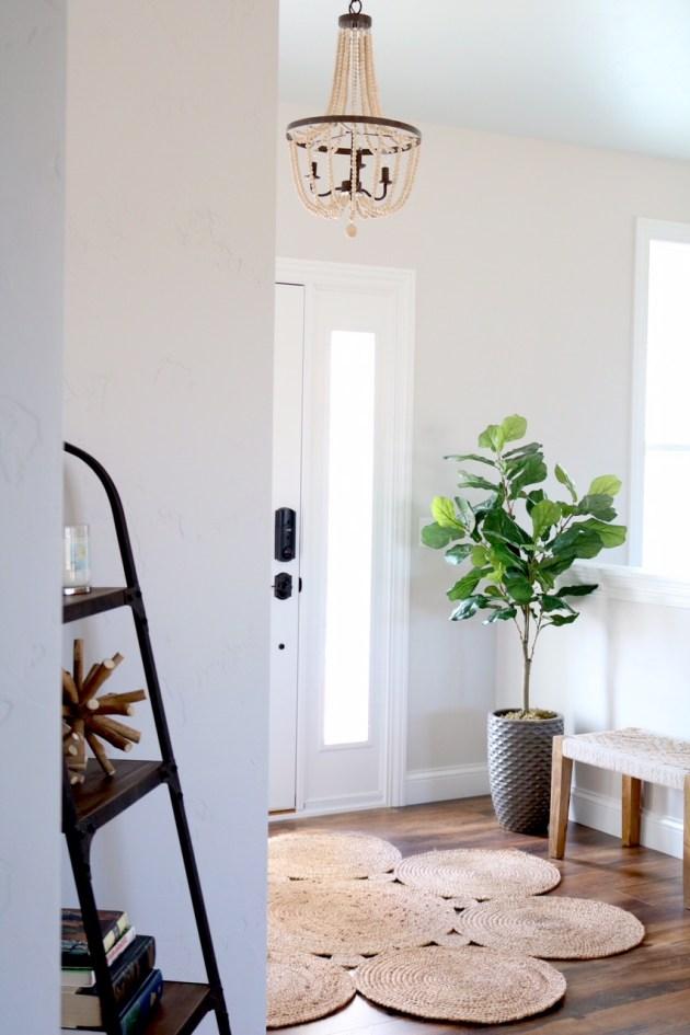 Modern farmhouse entryway reveal sugar maple notes for Modern farmhouse mudroom