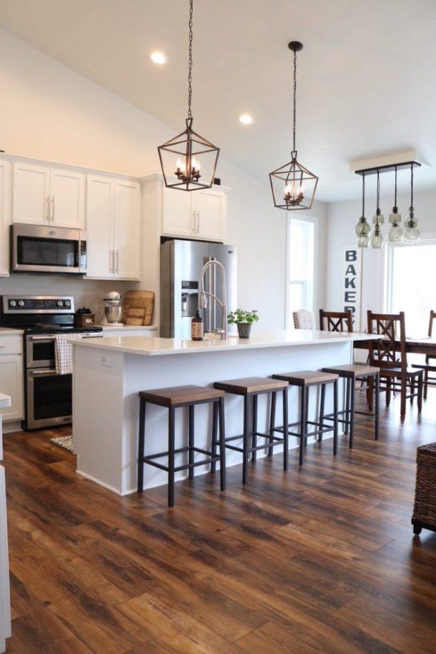 Modern Farmhouse Kitchen Reveal Sugar Maple Notes