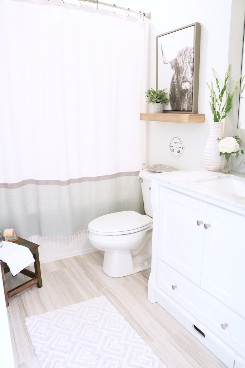 Modern Farmhouse Small Bathroom Reveal - SUGAR MAPLE notes on Bathroom Ideas Modern Farmhouse  id=19609