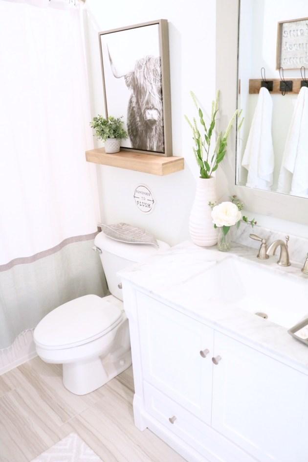 Modern Farmhouse Small Bathroom Reveal - SUGAR MAPLE notes on Modern Farmhouse Shower  id=59969