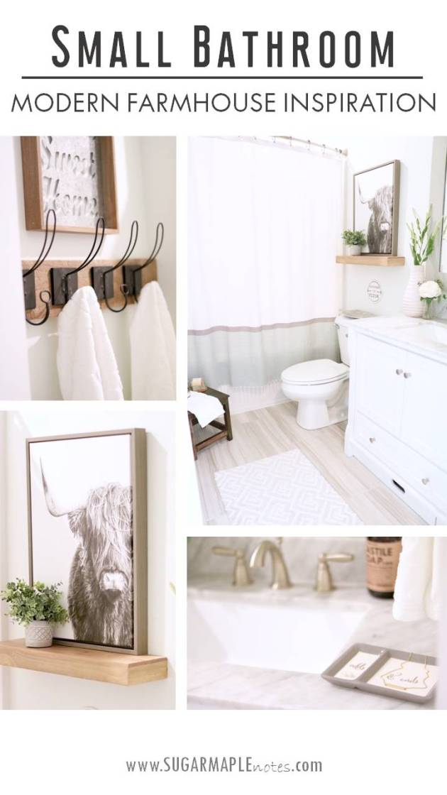 59 Best Farmhouse Wall Decor Ideas For Bathroom: Modern Farmhouse Small Bathroom Reveal