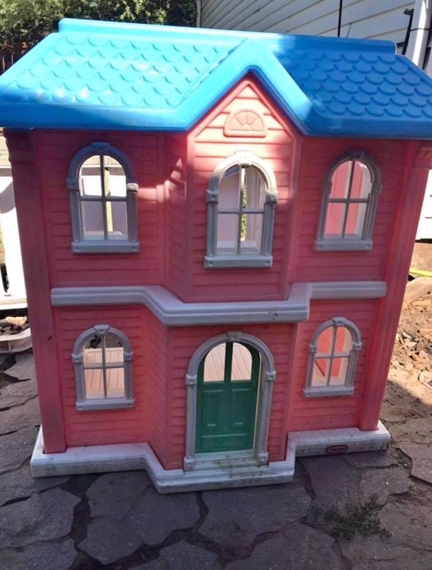 DIY Dollhouse Makeover Before & After