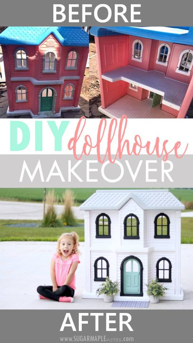 Diy Dollhouse Makeover Before Amp After Sugar Maple Notes