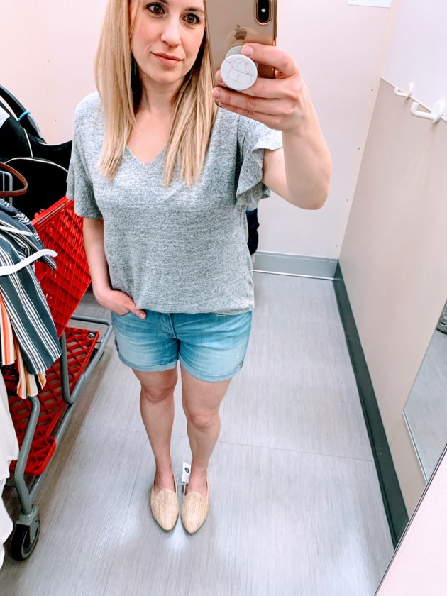 1abc9b74a Spring Style Target Try-On 2019 Universal Thread Shorts  momstyle  fashion   targetstyle