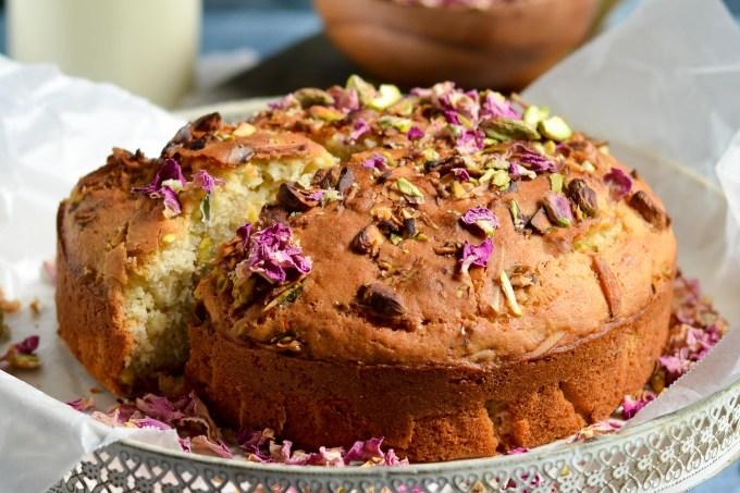 Thandai Rose Pistachio Cake