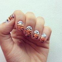 Ombre with Tiger print