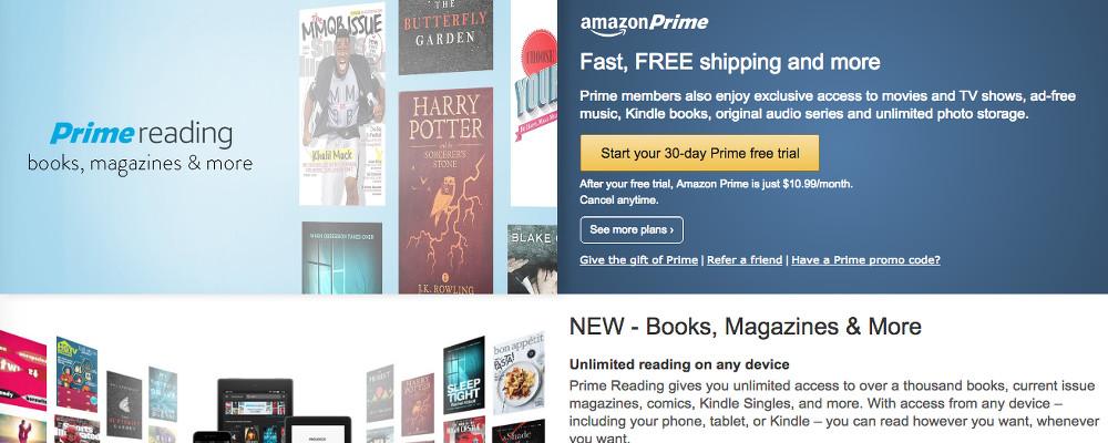 Amazon Prime Reading, migliaia di libri gratis per i membri Prime