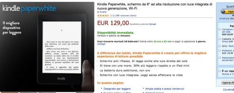 Kindle Paperwhite, la recensione