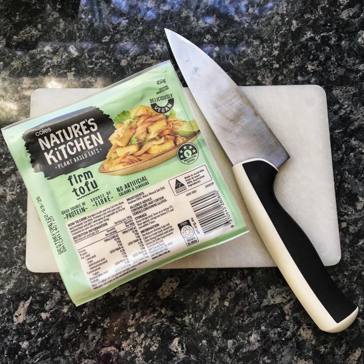 Coles Nature's Kitchen Firm Tofu