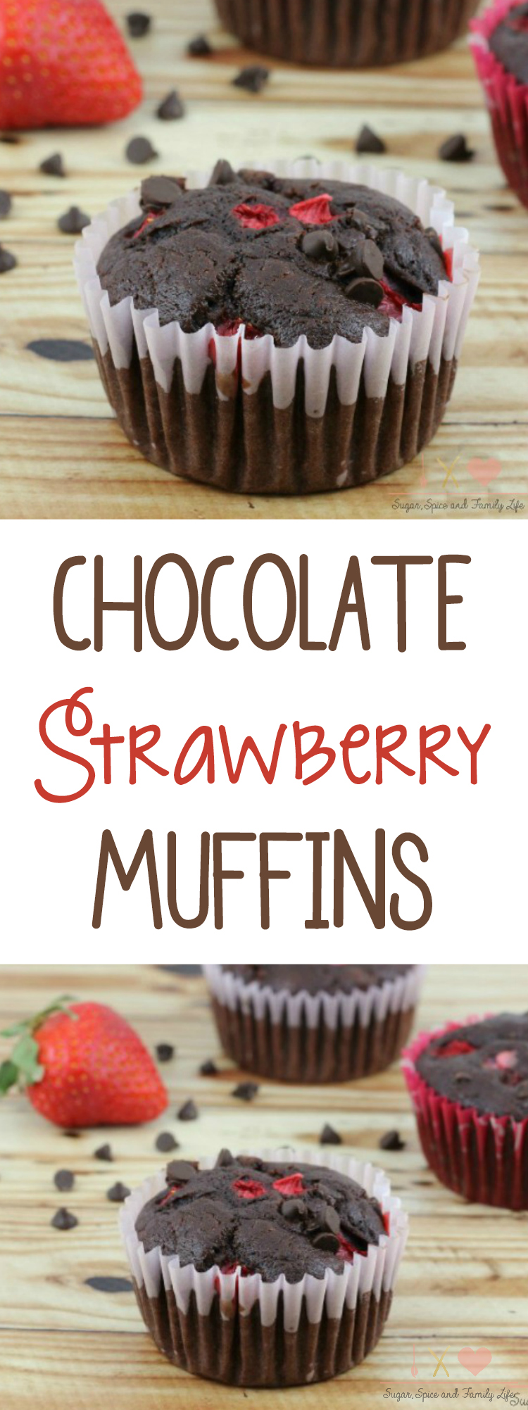 Chocolate Strawberry Muffins Recipe
