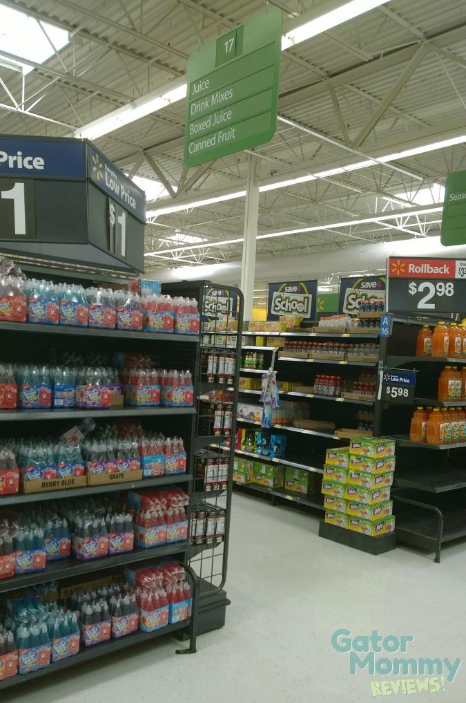 Juice Aisle at Walmart #FlavorofFall #shop