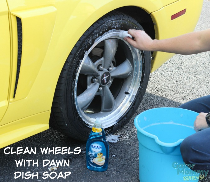 Wheel Cleaning with Dawn Dish Soap