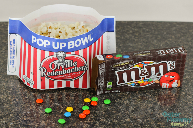 Popcorn and M&Ms #MovieNight4Less #ad #cbias