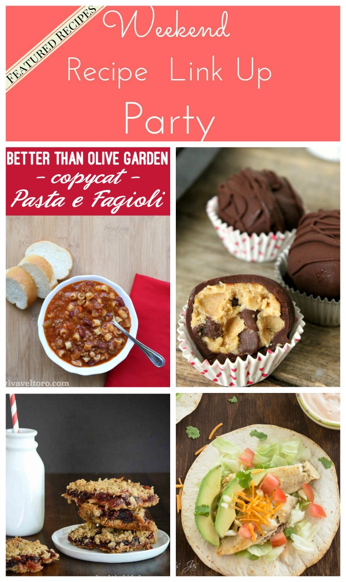 Weekend Recipe Link Up Party featured recipes 39