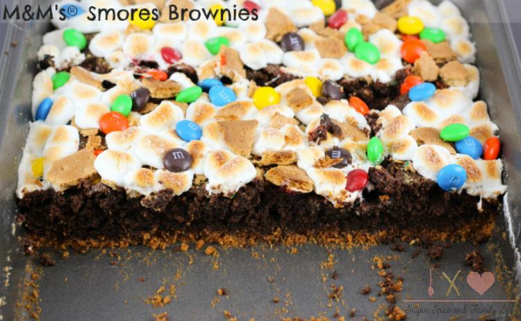M&M's Smores Brownies