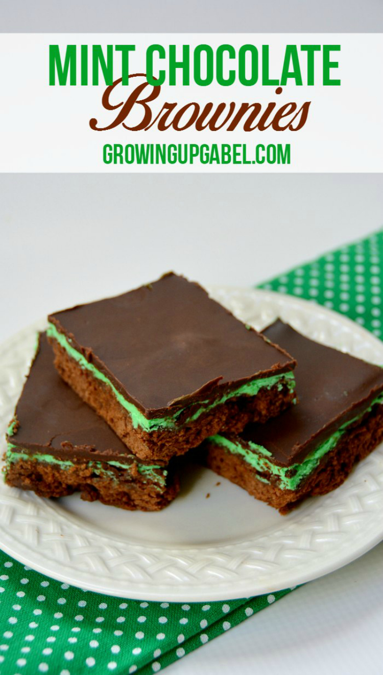 Mint-Chocolate-Brownies