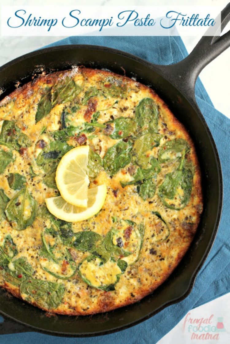 Shrimp-Scamp-Pesto-Frittata