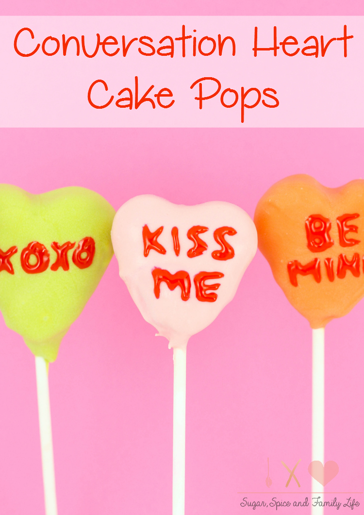 Conversation Heart Cake Pops