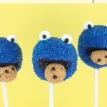 Cookie Monster Cake Pops