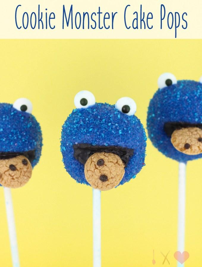 Cookie Monster Cake Pops
