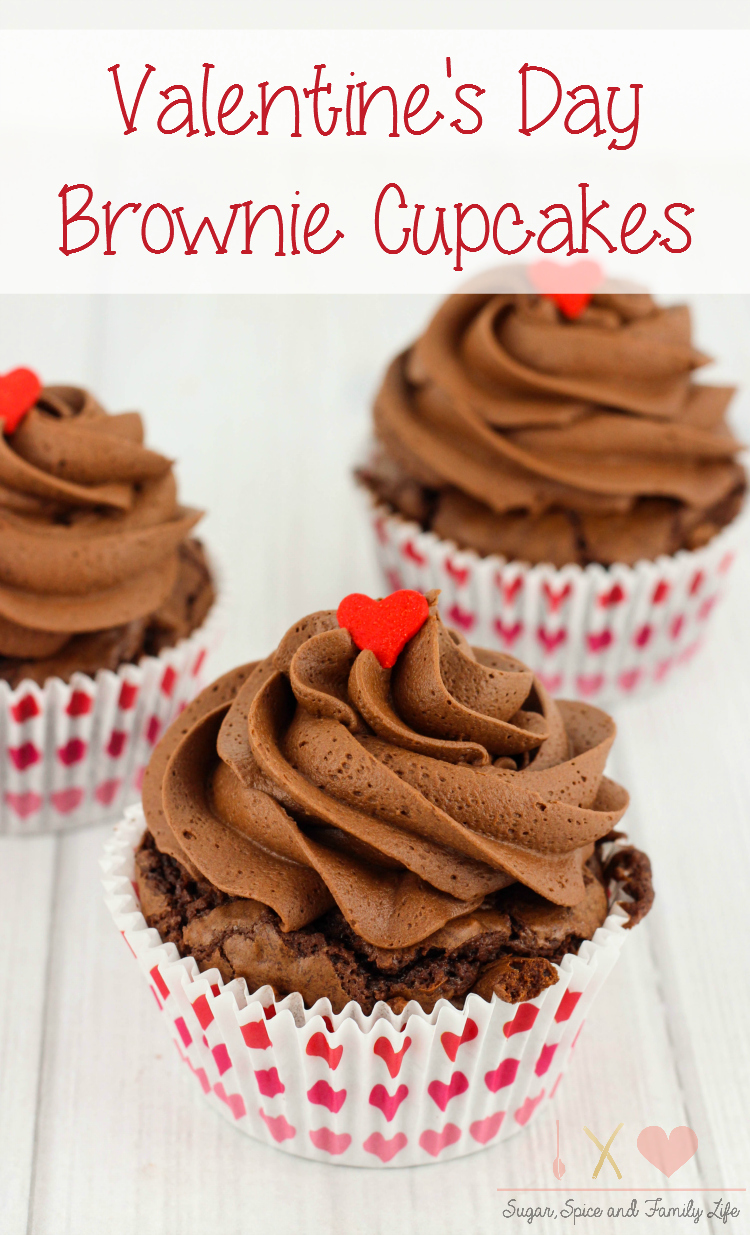 Chocolate Brownie Heart Cupcakes