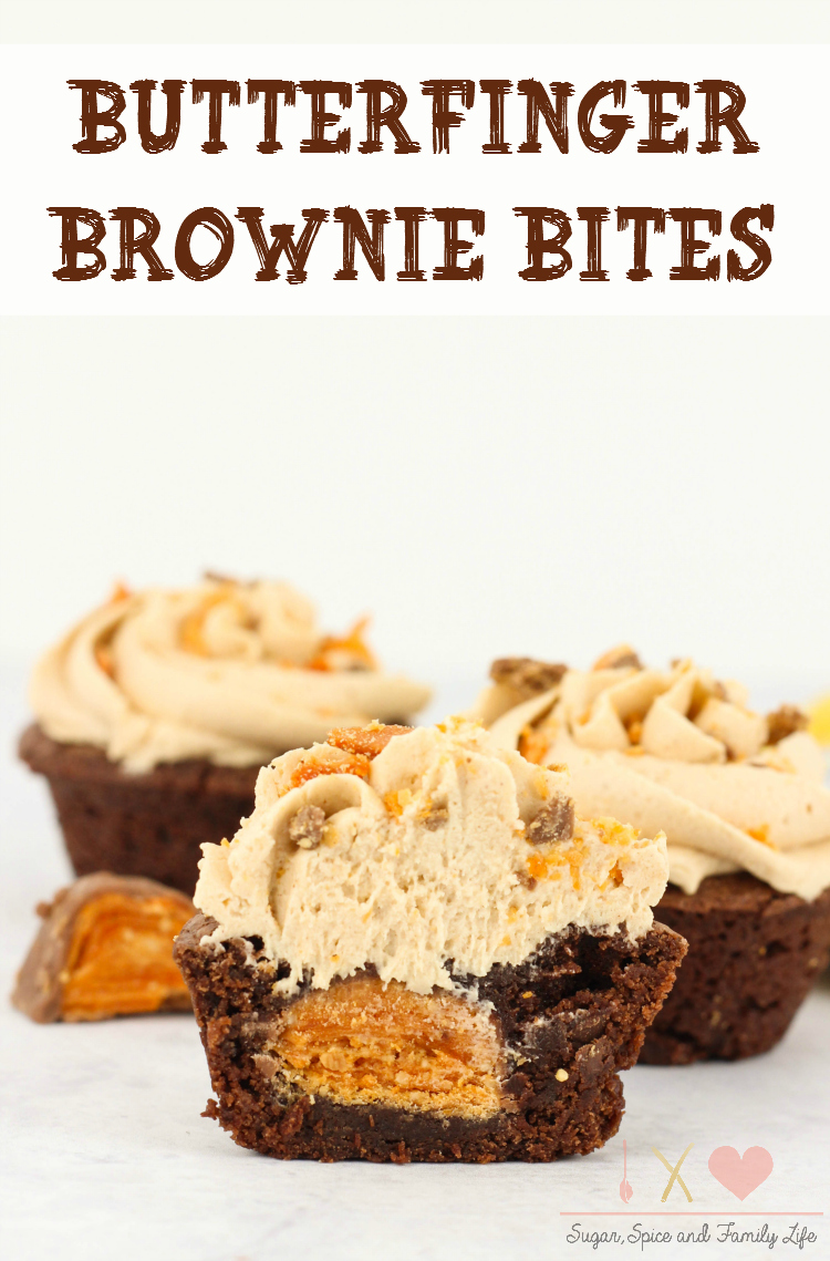Butterfinger Brownie Bites