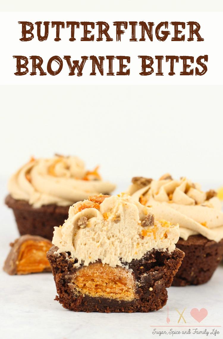 Butterfinger Brownie Bites