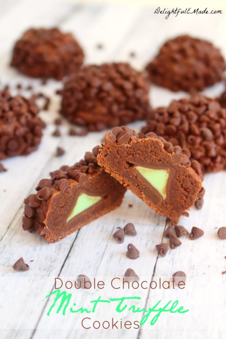 Double Chocolate Mint Truffle Cookies