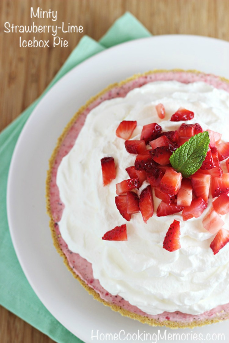 Minty Strawberry-Lime Icebox Pie