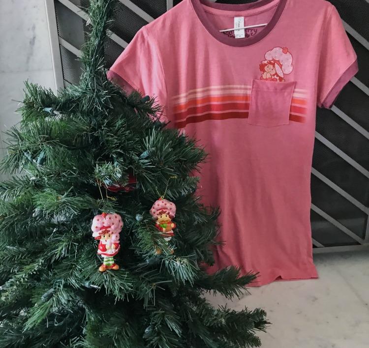 Strawberry Shortcake ornament and shirt