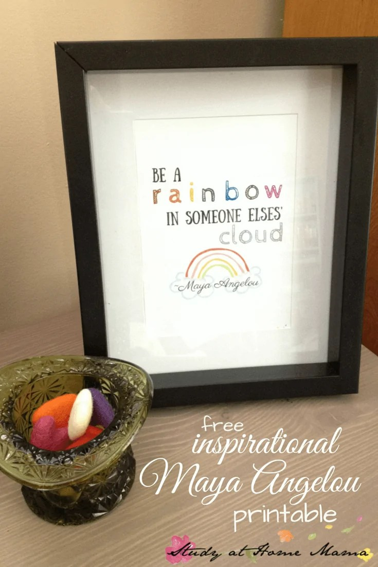 Be A Rainbow In Someone Elses Cloud Printable Sugar