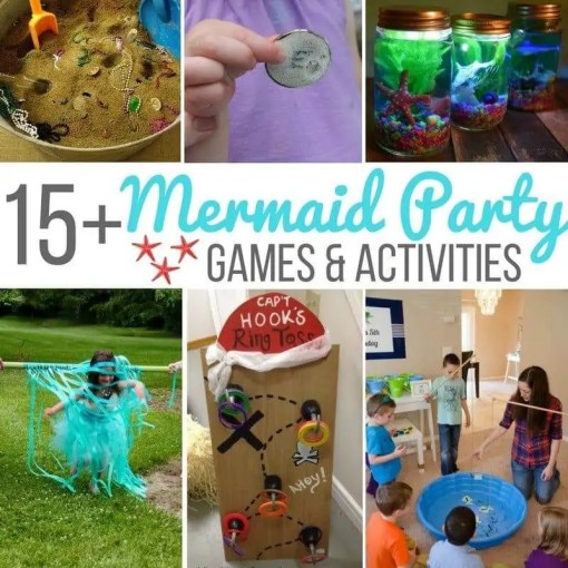 15  Mermaid Party Games   Activities        Sugar  Spice and Glitter mermaid party games